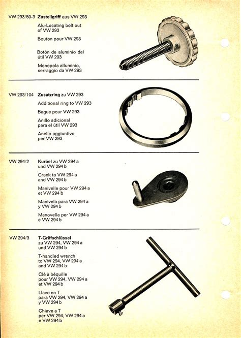 Spare Part Vw thesamba vw special service tools 8 70 spare parts