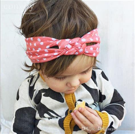 newborn baby cotton braided cross headbands infant elastic knot headbands hair