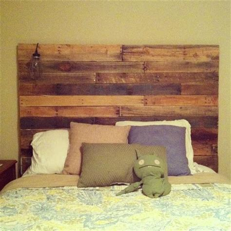 Wood Headboard Ideas Diy Pallets Headboard Is Idea Recycled Pallet Ideas