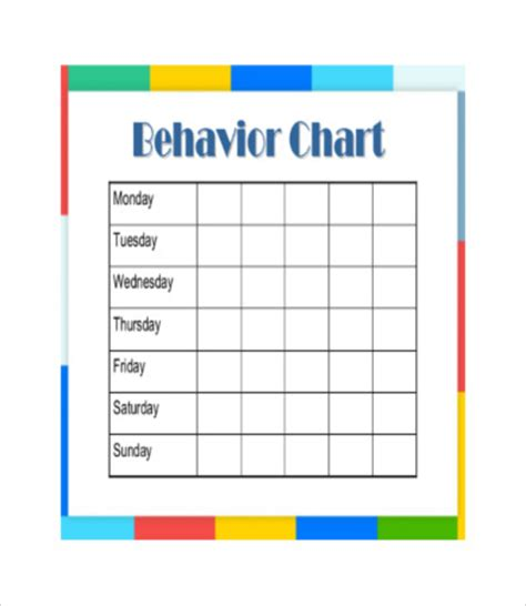 free printable behavior chart 8 free pdf documents