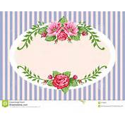 Frame In The Victorian Style With Roses Full Scalable Vector Graphic