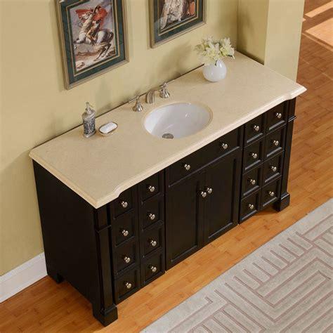 Crema Marfil Vanity Top by Silkroad 60 Inch Crema Marfil Marble Top Bathroom