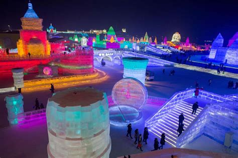 china s harbin ice and snow festival celebrates 2017