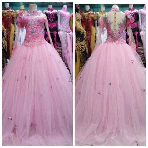 Gaun Pengantin Gliter setelan gaun tile pengantin kebaya