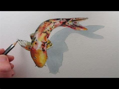 koi pond thediabeticspoon drawing realistic and stylish how to draw a fish koi carp narrated step by step youtube