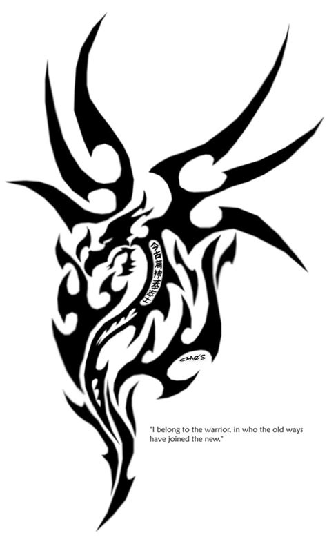 dragon warrior tattoo designs 25 best ideas about tribal tattoos on