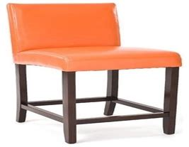 Orange Leather Counter Stools by Color Gallery Tomato On Graindesigners