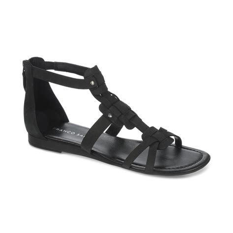franco sarto black sandals franco sarto glare mini wedge gladiator sandals in black