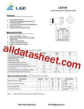 ls 4148 diode ls4148 データシート pdf shenzhen luguang electronic technology co ltd