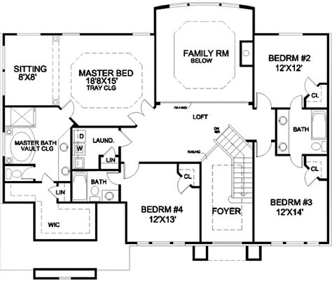 standard floor plan dimensions two story foyer and family room 13415by architectural
