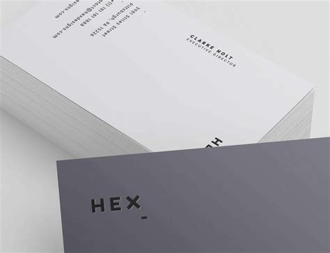 hex hex card template hex business card template graphic pear