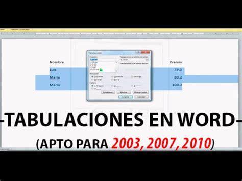 tutorial video word tutorial tabulaciones word youtube