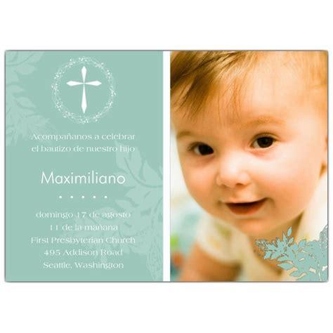 invitaciones de bautizo bautismo espanol invitacion invitaciones de bautizo con foto y cruz de jubileo