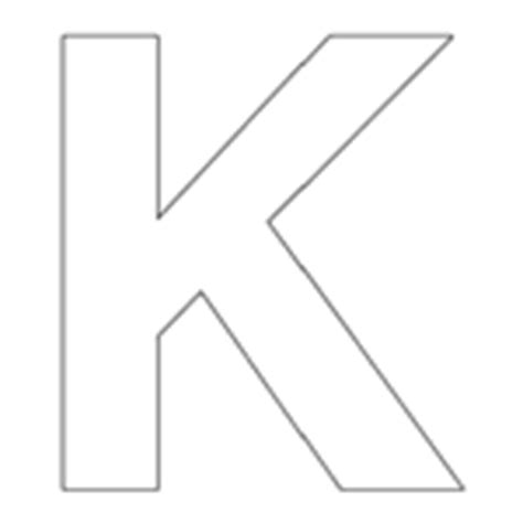 letter k template colouring in templates large letters