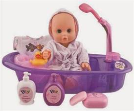 all things children baby 13 quot bathtime doll bath