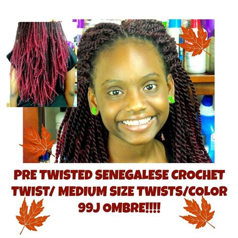 pre twist kinky twist senegalese pre twisted senegalese crochet twists fall color 99j ombre