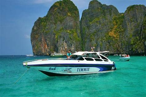 speed boat to phi phi island phi phi and khai island tour by speed boat phuket tour