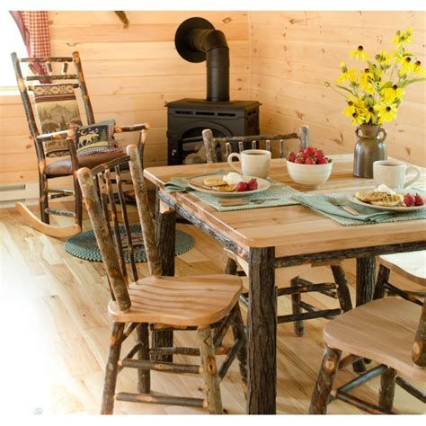 Rustic Dining Room Table Sets by Rustic Hickory And Oak