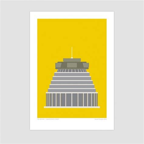 design icon wellington beehive wellington modern art print by hamish thompson