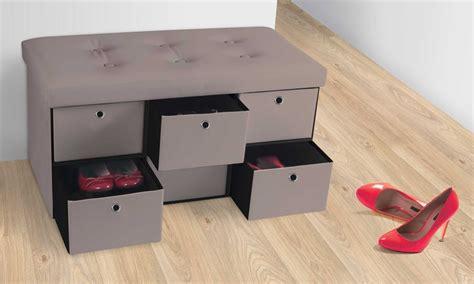 banc de rangement 490 jusqu 224 60 banc de rangement avec tiroirs groupon