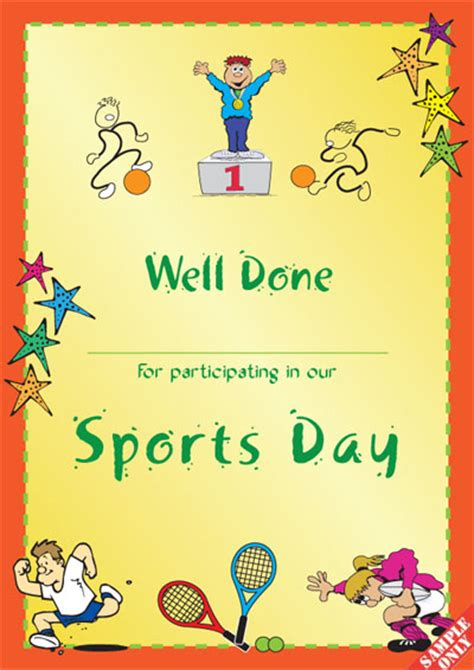 sports day certificate template sports certificate s96 pixygraphics
