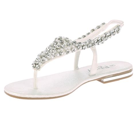 formal flat sandals womens flats diamante low heels evening dress formal