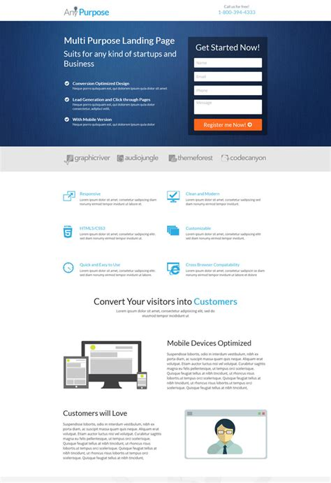 Lead Generation Page Template Choice Image   Templates