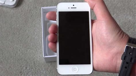 iphone 5 unboxing white at t 16gb