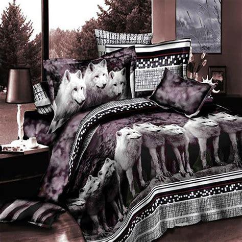 white wolf bedding set  duvet bedding king size duvet covers queen bedding sets