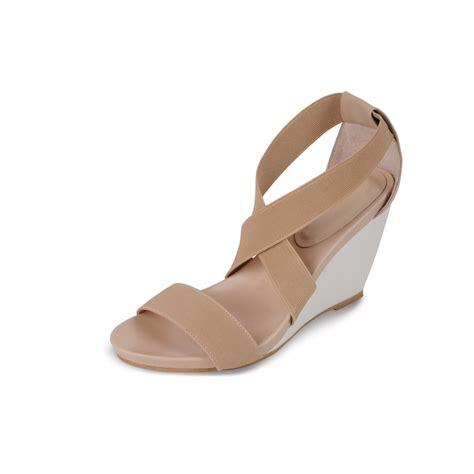 jlc546 beige peep toe wedge sandals