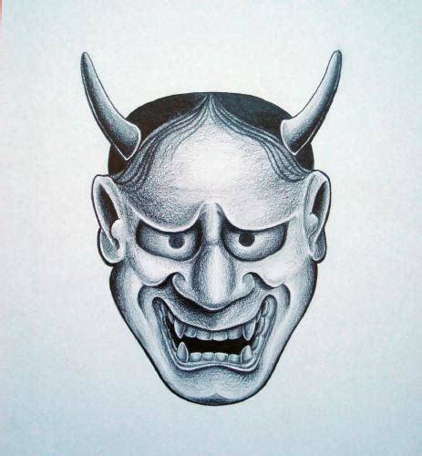 simple hannya mask tattoo hannya mask google search tattoo full back pinterest