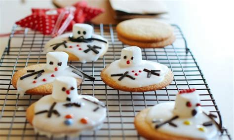 melted snowmen christmas cookies recipe kidspot