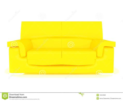 modern yellow modern yellow sofa stock photos image 15044983