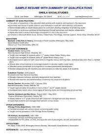 qualifications on a resume exles sles of resumes