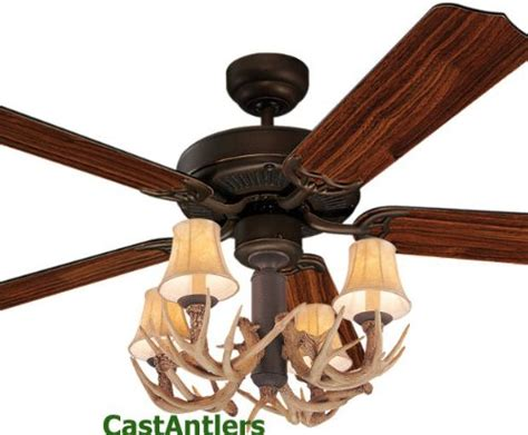 rustic bronze ceiling fan w antler 4 light prices
