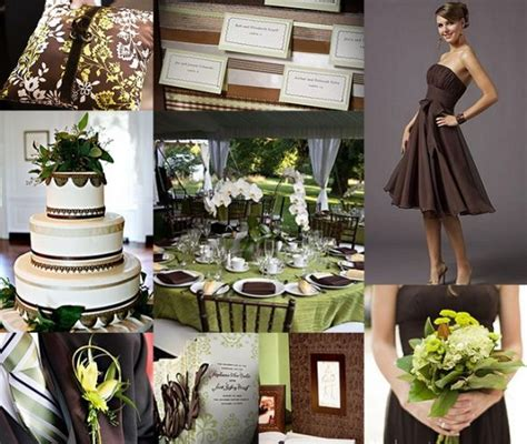 chocolate crean and weddings chocolate brown and green wedding chocolsate