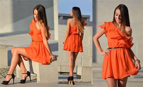 what color shoes to wear with an orange dress my