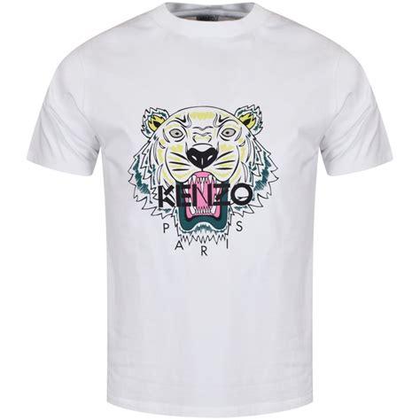 T Shirt Notre Dame White kenzo kenzo white tiger logo t shirt from