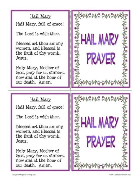 printable version of hail holy queen hail mary prayer printable bing images