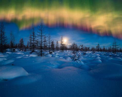 wallpaper aurora borealis nature