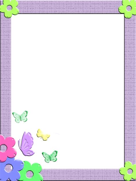 printable frames for children s work free frames and borders png children frames 3 by