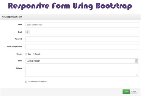 Bootstrap Responsive Form Studywithdemo Bootstrap Templates For Registration Form