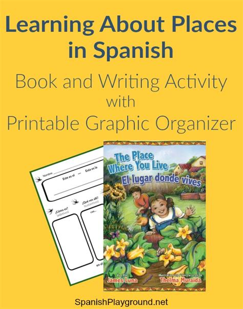 places vocabulary book and writing activity