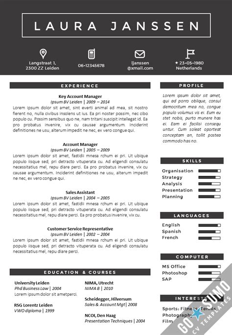Smart Cv Format by Smart Word Resume Template Luxury Exles Resume