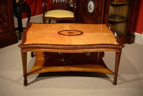 stunning bird s eye maple coffee table and pair of side