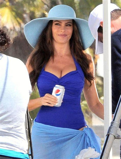 understood commercial actress sofia vergara in sofia vergara shooting a pepsi commercial