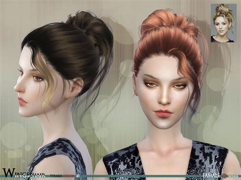 hairstyle with wings wingssims wings hair sims4 tts1023 f