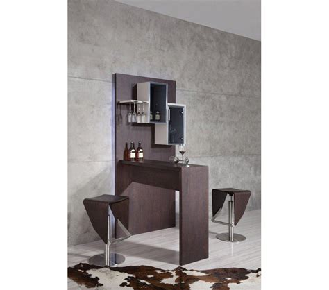 Contemporary Bar Cabinet Dreamfurniture B514 Modern Brown Bar Cabinet