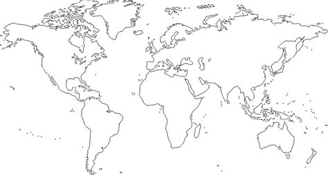 world map black and white clipart world map