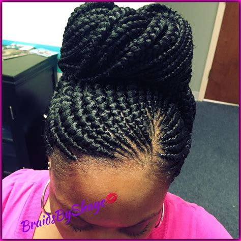 big cornrows updo styles small braid ghana bun braidsbyshaye pinterest ghana